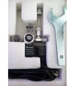 Regulador Doble manometro con Cuenta Burbujas+Solenoide