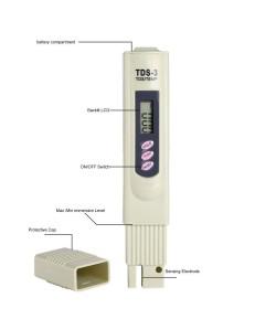 TDS Tester Medidor de Solidos disueltos en Agua (Total dissolved solids)
