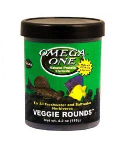 118g Veggie Rounds alimento en pastillas para peces y gambas de agua dulce y salada