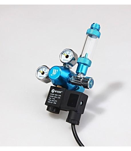 Regulador Co2 con Solenoide, cuentaburbujas, doble manometro