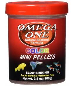 99g Super Color Mini Pellets de Omega One Alimento para peces